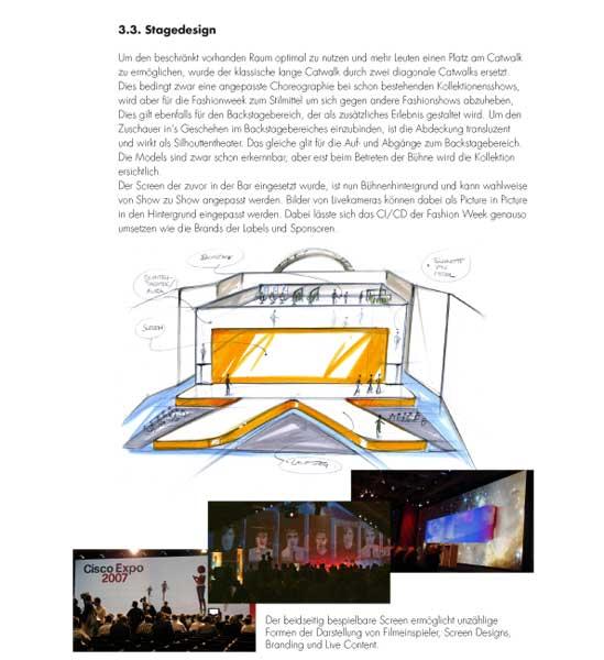 Fashion Week Zürich – Entwurf Raumkonzept