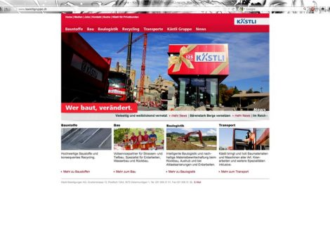 Website Kästli Gruppe