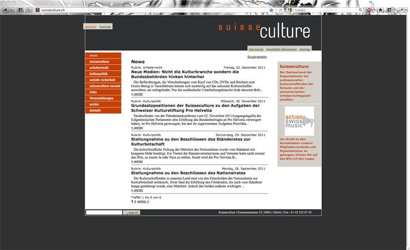Suisseculture Website