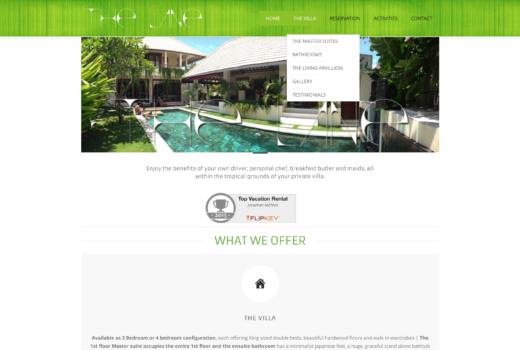 Website The Lane Villa – Bali