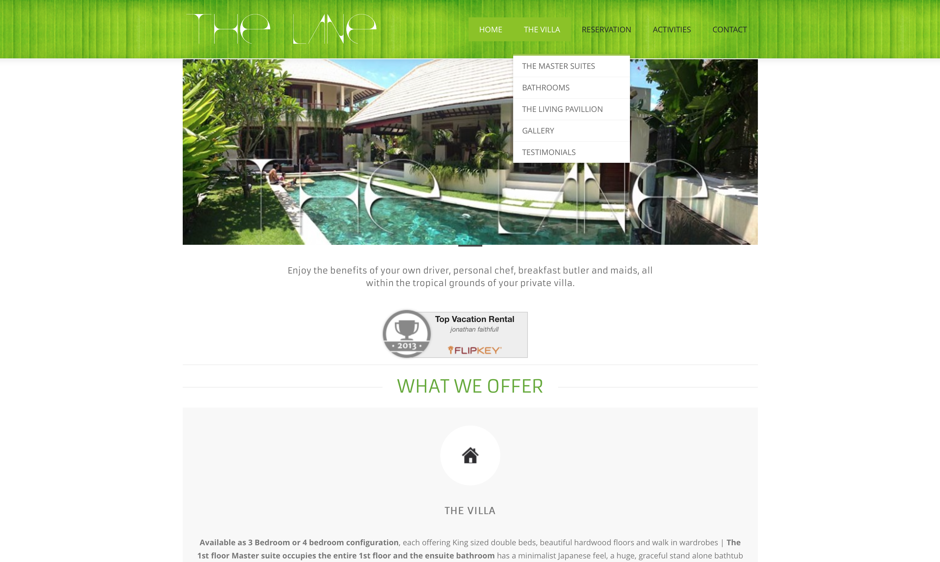 Website The Lane Villa – Bali