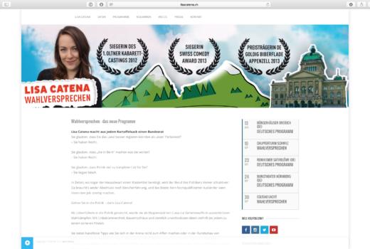 Website lisacatena.ch