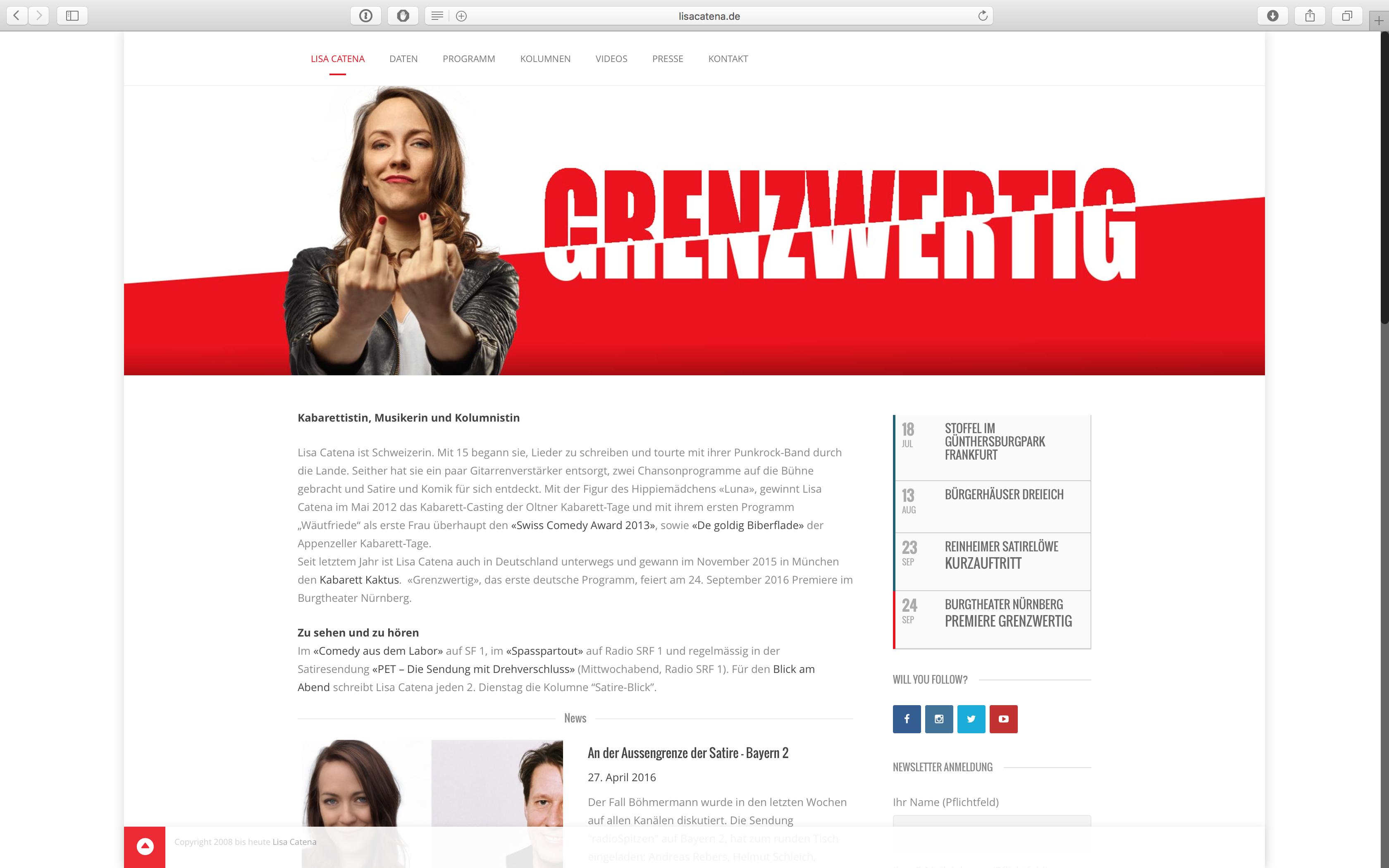 Website lisacatena.de