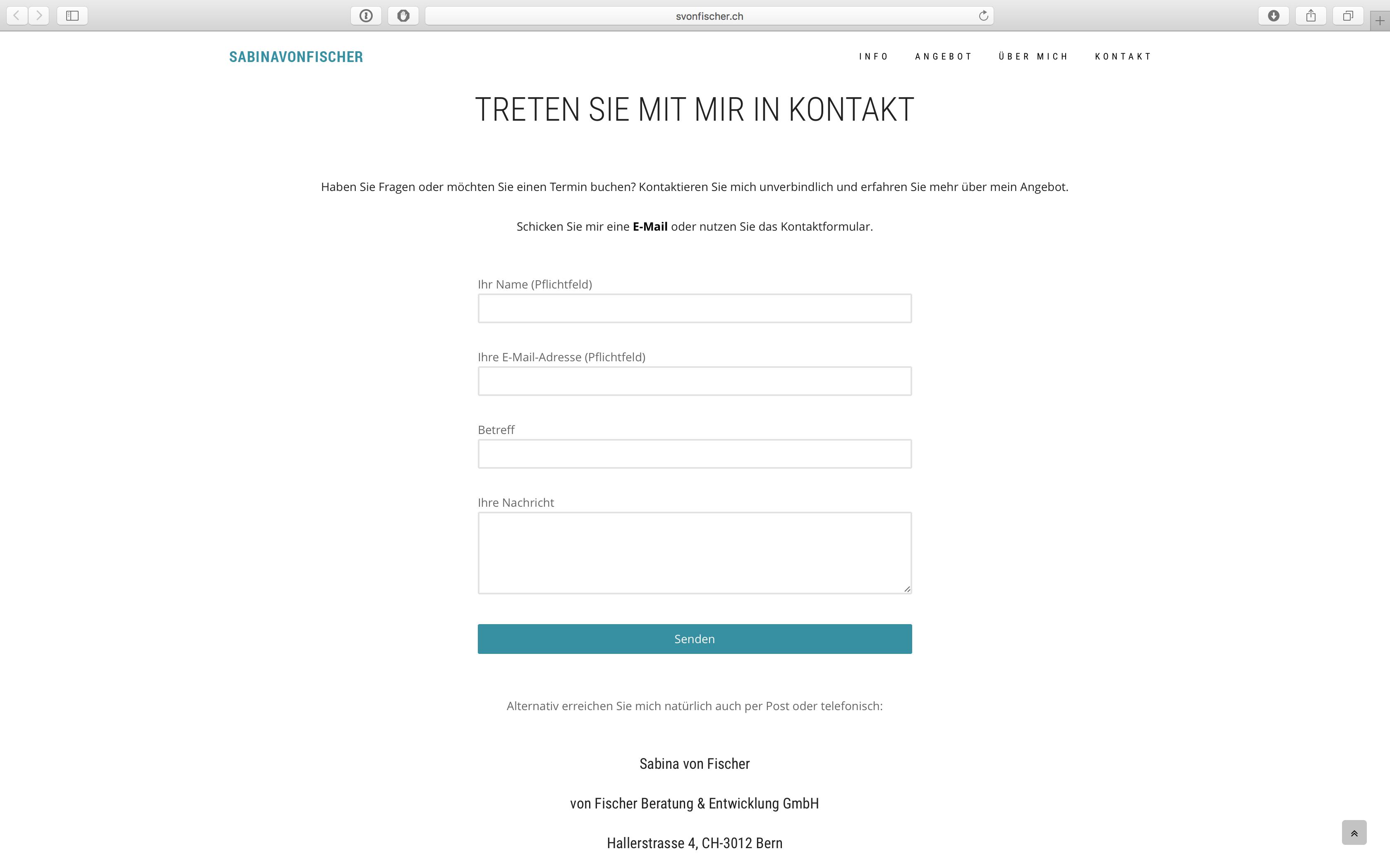 Website Sabina von Fischer