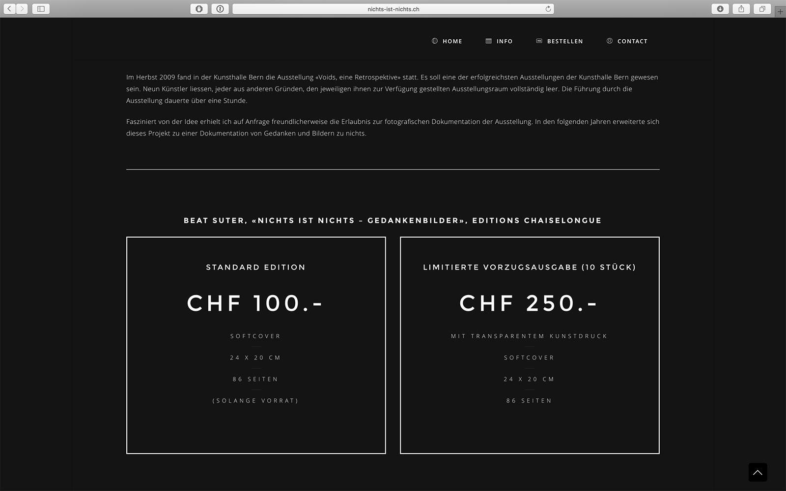 Website nichts-ist-nichts.ch