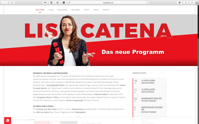 lisacatena.ch – Anpassungen ans neue Programm